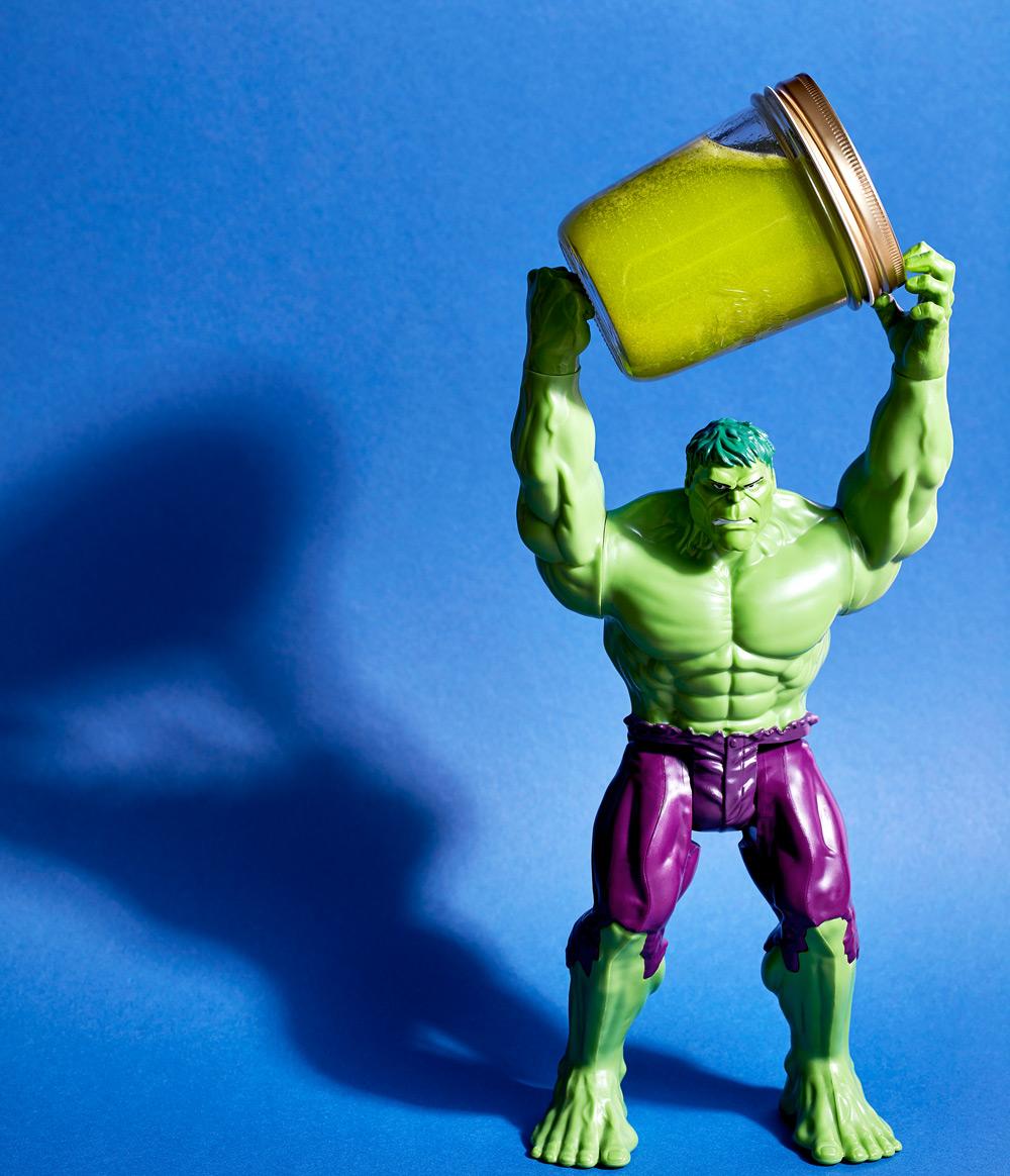 "Energieschub? Sellerie-Kraftsaft ""Hulks Freude"""